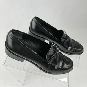 Brighton Shoes Healed Black Loafer Leather 8N